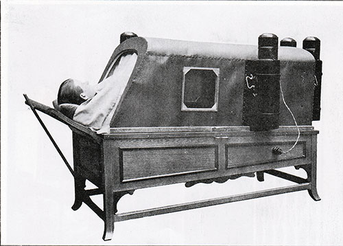 Fig. 133: One of the Electric Baths, In Use