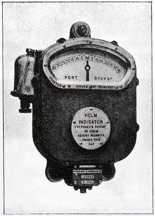 Fig. 141: Electric Helm Indicator.