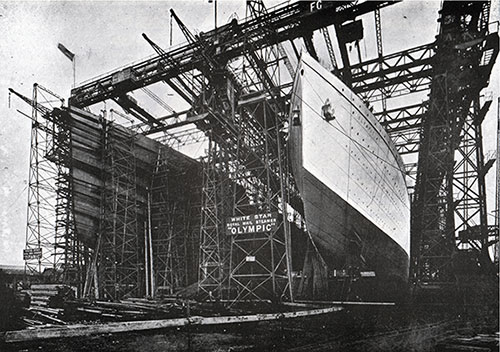 Fig. 34: The Titanic and Olympic on the Stocks.
