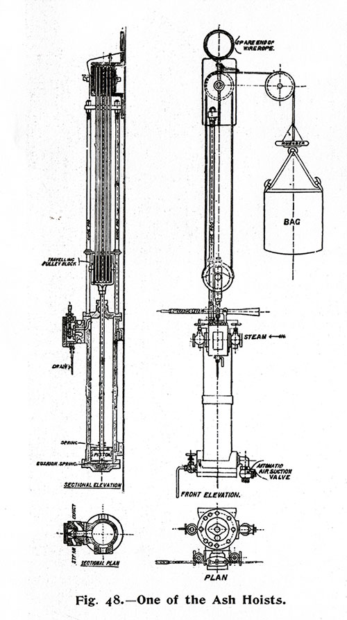 Fig. 49: One of the Ash Hoists.