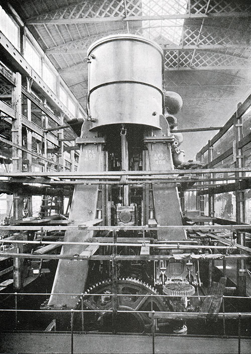 Fig. 54: One Set of Reciprocating Engines in the Erecting Shop.