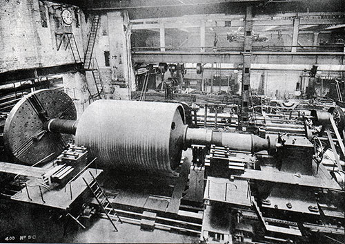 Fig. 56: Turbine Rotor in the Lathe.