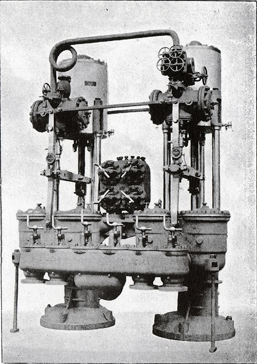 Fig. 67: One Pair of Vertical Direct-Acting Feed Pumps.