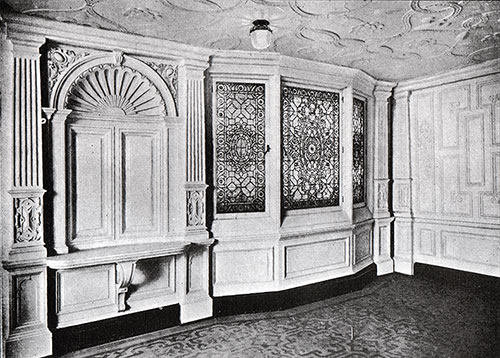 Fig. 75: Bay Window in First-Class Dining Saloon.