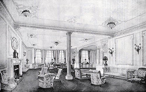 Fig. 81: First Class Reading and Writing Room.