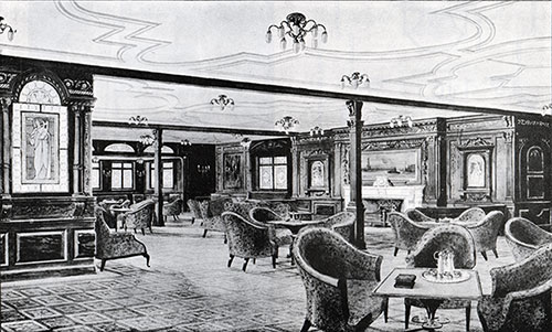 Fig. 82: First Class Smoking Room.