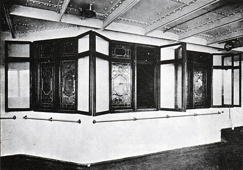 Fig. 84: Windows of First Class Smoking Room.