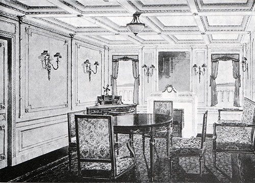 Fig. 98: Sitting Room of Parlour Suite, Room B-38 in the Style of Louis Seize.