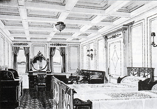 Fig. 97: Bedroom of Parlour Suite, Room B-40 in the Empire Style.