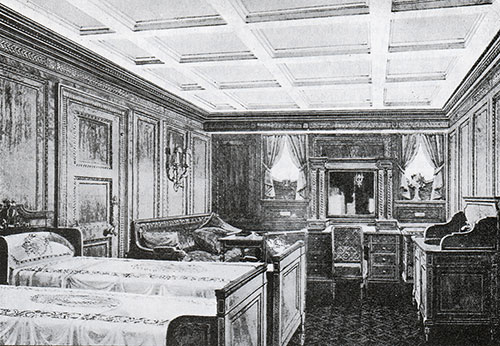 Fig. 101: Suite Bedroom C-76 in the Italian Renaissance Style.