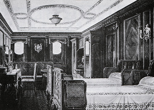 Fig. 103: Special Stateroom C-80 in the Georgian Style.