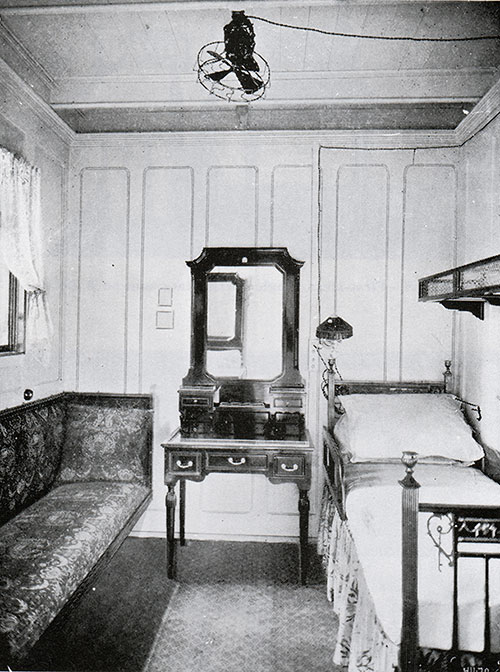 Fig. 107: First Class Single-Berth Stateroom on A Deck.
