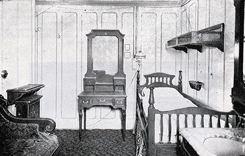 Fig. 108: First Class Single-Berth Stateroom on B Deck.