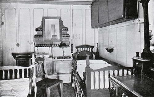 Fig. 109: First Class Three-Berth Stateroom on C Deck (C-9 and Similar).