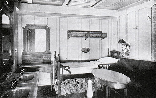 Fig. 110: First Class Three-Berth Stateroom on C Deck (C-117 and Similar).