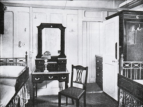 Fig. 111: First Class Three Berth Stateroom on C Deck (C-15 and Similar).