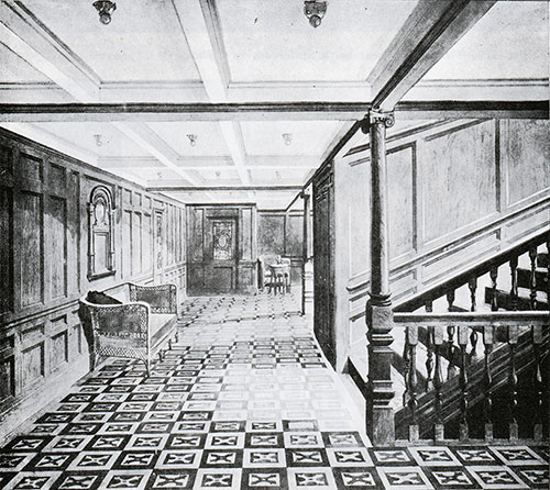 Fig. 112: Second Class Grand Staircase and Entrance Hall.