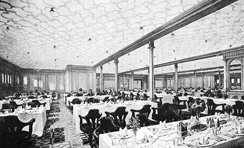 Fig. 113: Second Class Dining Saloon.