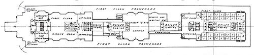 Plate 3(b): First Class Promenade Deck A Plan.