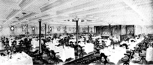 The First Class Dining Saloon.