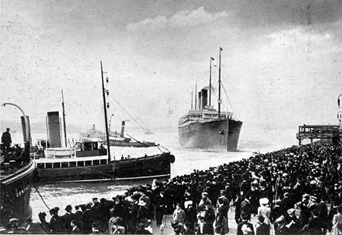 The RMS Adriatic Makes Its First and Last Trip from Liverpool.