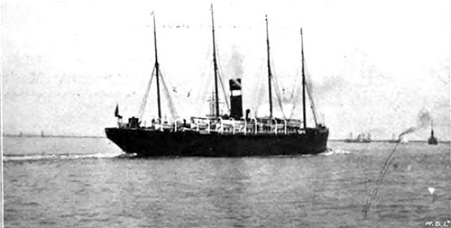 The RMS Parisian Spotted off Gravesend circa 1907.