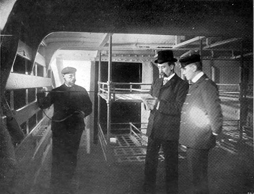 Examining the Sleeping Accomodations for Steerage Passengers.