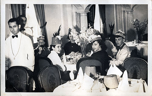 Another Group of Passengers in the Dining Room on the SS President Harding circa 1938.