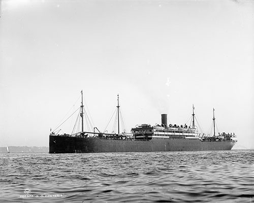 The SS Pretorian 1898 of the Allan Line