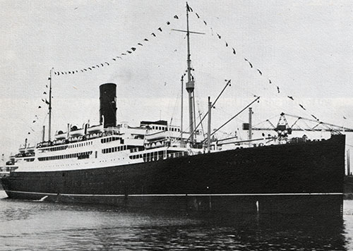 S.S. Tuscania II of the Anchor Line - 1922