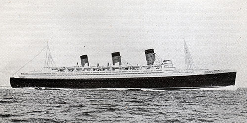 The RMS Queen Mary of the Cunard Line