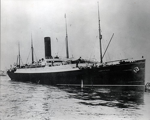 Photograph of the R.M.S. Carpathia - from 1903