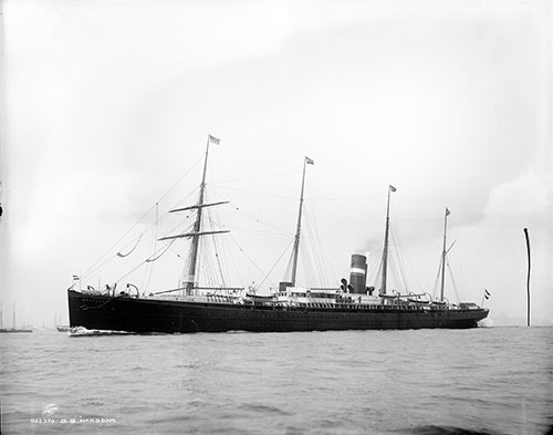 The SS Maasdam (1891) of the CGT French Line