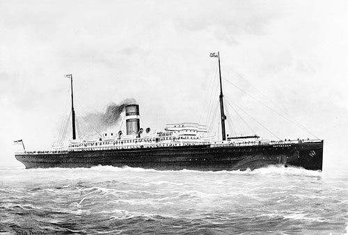 The SS Rotterdam of the Holland-America Line ca 1900