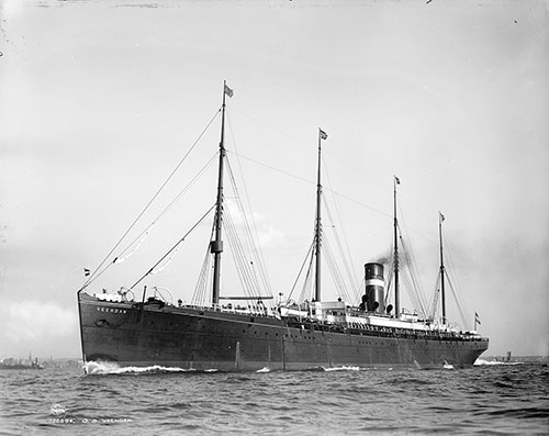 The SS Venndam of the Holland-America Line