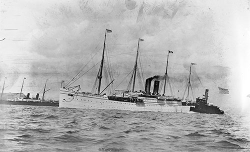 S.S. Werra of the North German Lloyd (Norddeutscher Lloyd)