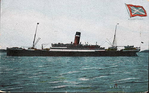 S.S. Victorian of the Allan Line - 1905