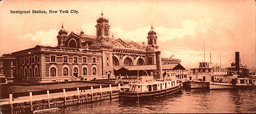 Ellis Island Immigrant Station, New York City Postcard.
