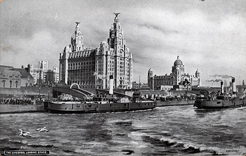 The Liverpool Landing Stage in Cloudy Weather