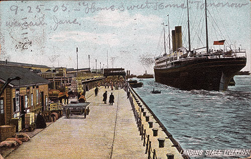 "1905 ""Home Sweet Home"" - View of Landing Stage Liverpool"