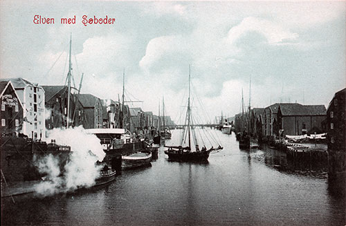 Elven med Søbeder, literally translates as The Elf with Seabed, in Trondhjem circa 1906.