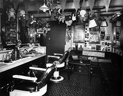 First Class Barber Shop on C Deck Near the Aft Grand Staircase.