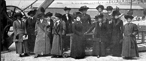 Surviving Stewardesses from the RMS Titanic - April 1912