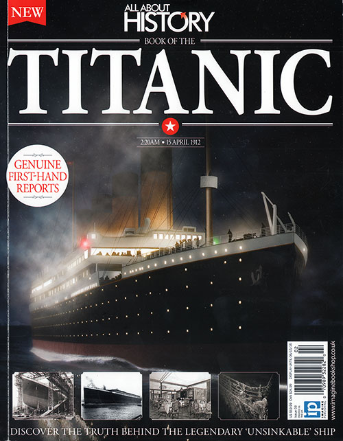 Front Cover: Book of the Titanic - All About History, Issue 3, 2016