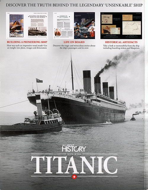 Back Cover: Book of the Titanic - All About History, Issue 3, 2016