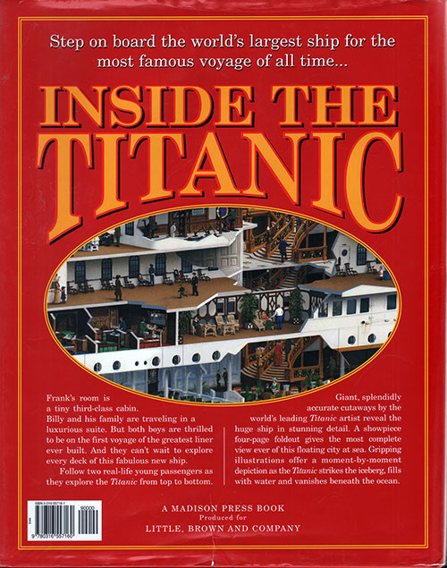 Back Cover, Inside the Titanic: A Giant Cutaway Book, 1997