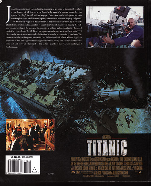 Back Cover: James Cameron's Titanic - 1997