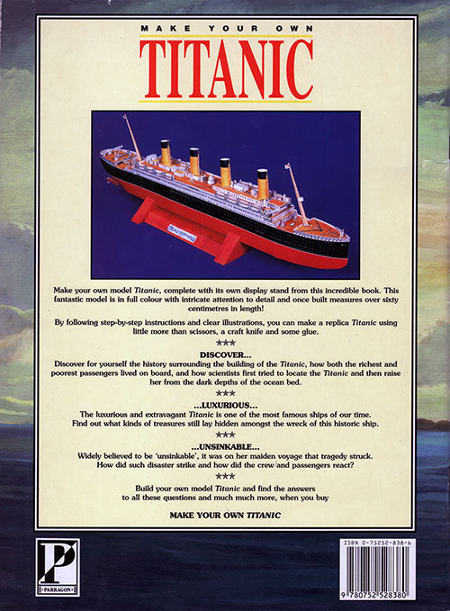 Back Cover: Make Your Own Titanic - 1998