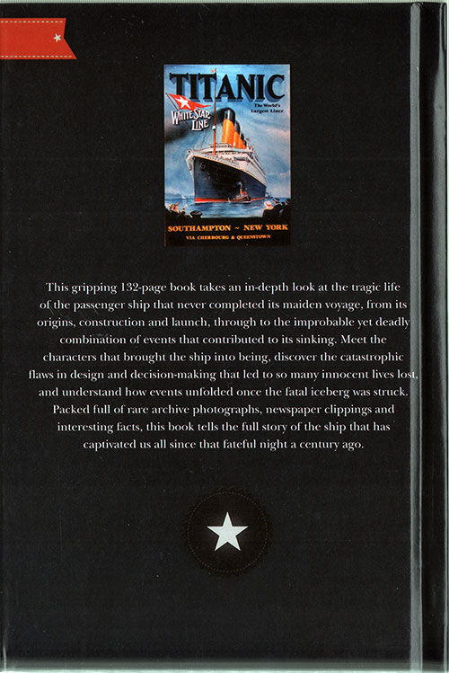Back Cover, Story of Titanic by Henry Hirst © 2011
