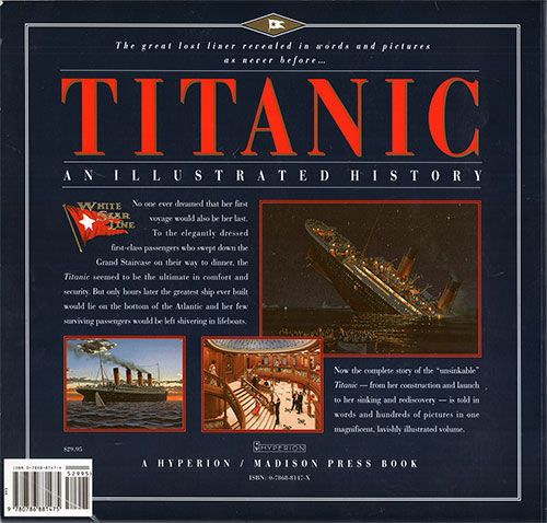 Back Cover: Titanic - An Illustrated History - 1995